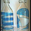 DIY : Décorer des bouteilles en verre