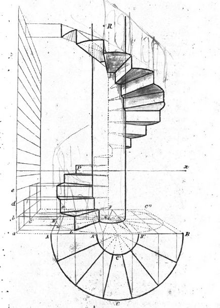 Forums view topic escalier helicoidale - Escalier colimacon plan ...