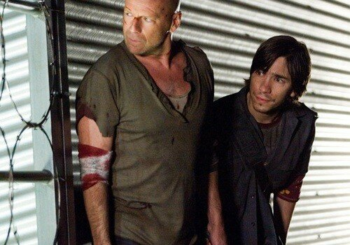 Bruce Willis & Justin Long dans Die Hard 4