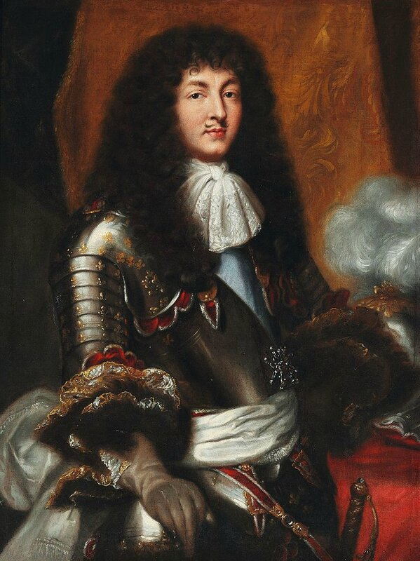 767px-Pierre_Mignard_(after)_-_Louis_XIV_with_dark_full-bottomed_wig_and_armour