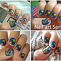 <b>Battle</b> de Nailart 100% dbutantes - Thme : le printemps