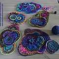 Création crochet freeform en cours - work in progress