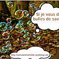 Si je vous dis... <b>bulles</b> de savon ?