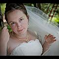 Photo de mariée avec bijoux <b>mariage</b> vert pâle