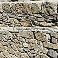 Un mur de soutènement dans le Luberon (<b>Vaucluse</b>)