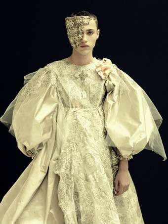 Fashion : Callum Wilson in Christian Lacroix's haute couture collection by