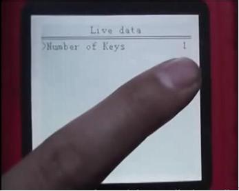 Via Live data Number of keys