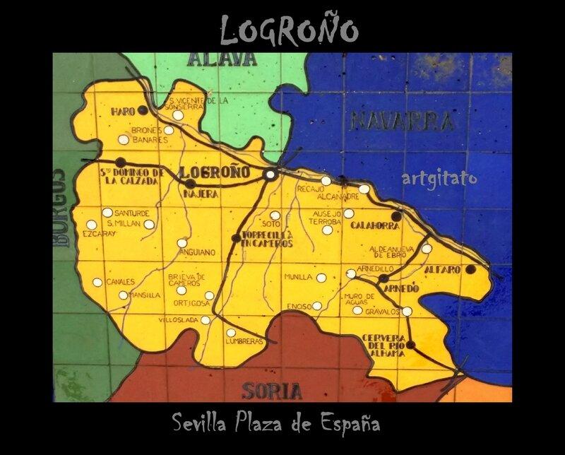 Logroño Sevilla Plaza de España Artgitato Carte