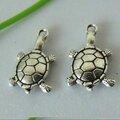 Lot de 50 tortue argentées breloques