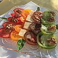 Salade de <b>tomates</b> à huile d'olive parfumée à l'orange