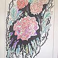 <b>Roses</b>-dessin et haïku du matin n
