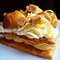 Lemon pastry like a <b>Saint</b>-<b>Honoré</b> - Pâtisserie au citron comme un <b>Saint</b>-<b>Honoré</b>