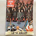 Jour de <b>France</b> 1974, 14 juillet, Giscard D'Estaing, Mireille Darc, Alain Delon