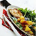 Escalope de porc marinée à l'ail et au citron, pommes de terre sautées avec COOKIN THEWORLD.....