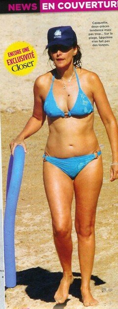 Photo of Segolene Royal in a bikini