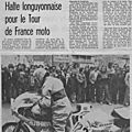 Petit coup d'oeil dans le rétro : en 1975 à Longuyon!