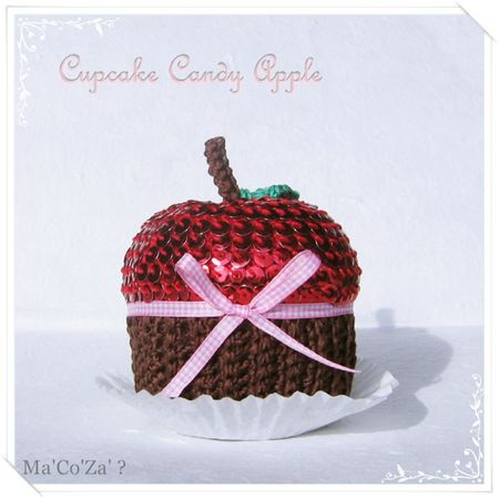 Cupcake Candy Apple au crochet 1