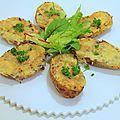 Pommes de terre farcies à la crème, emmental & fines herbes