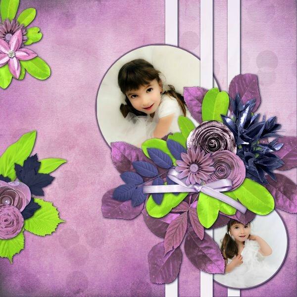 Flomelle - template 3 pack 2 - kit de Kastagnette et Natys - Blue berry girl - photo Nounou