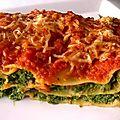 Lasagne épinards <b>ricotta</b>
