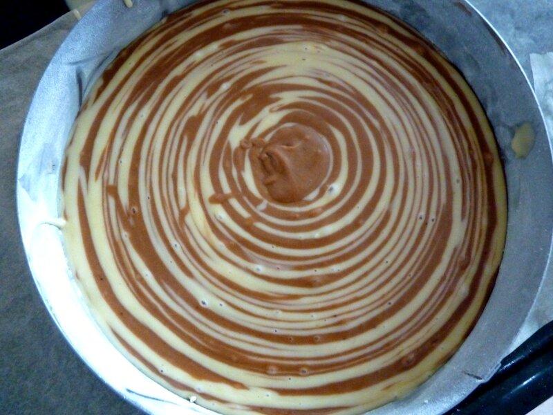 Montage cake zébré