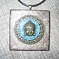 collier,bouddha bronze