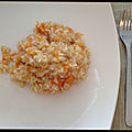 <b>Risotto</b> à la courge