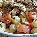 Salade de pâtes à la truite