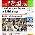 VOICI LA COUVERTURE - LA NR DU 13 NOVEMBRE 2014