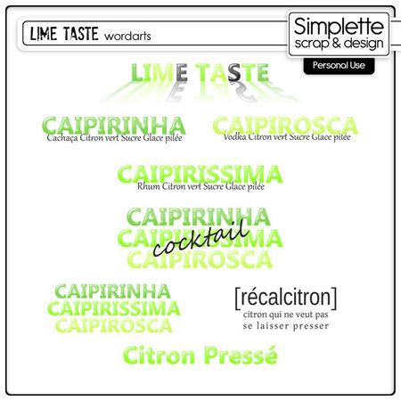 Simplette_LimeTaste_wordarts_preview