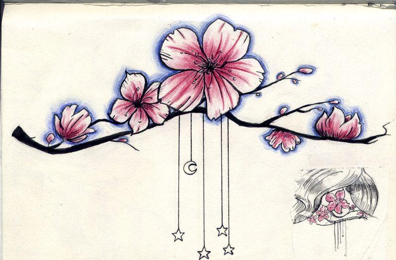 Recherche quelqu 39 un sachant dessiner sur le forum blabla - Dessin fleur de cerisier ...