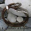 Du <b>cuir</b> camouflage pour me protéger de la chaleur et le côté serpent pour me faufiler au frais très très vite avec ce <b>bracelet</b> !