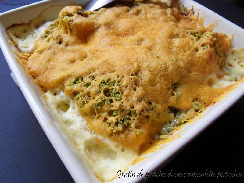 gratin de patates douces mimolette pistache