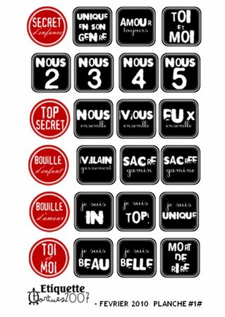etiquette 16 noir et rouge le blog scrapen43. Black Bedroom Furniture Sets. Home Design Ideas