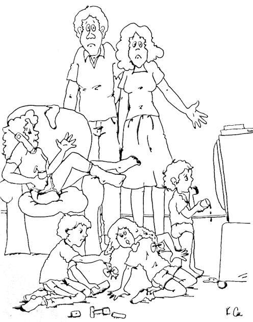 atelier Faber et Mazlish famille débordée avec quatre enfants