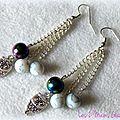 Des perles ... des hiboux ... de chouettes boucles d'oreille féminines et élégantes !