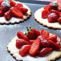 Tarte aux fraises, pate sablée