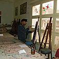 La Diane chasseresse à Annaba par le peinceau d'un artiste peintre algerien