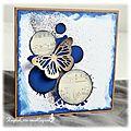 Carte papillon bleue