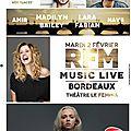 RFM Music Live avec Madilyn Bailey et Lara Fabian - Au Théâtre Fémina, à <b>Bordeaux</b>, le 2 février