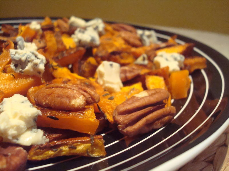 recettes ...Butternut squash with pecans and blue cheese... (AUTOMNE)