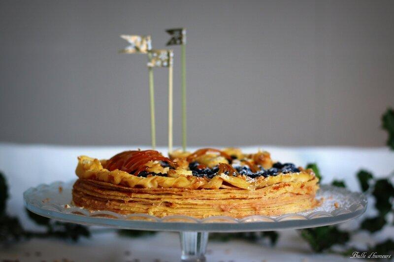 gâteau de crêpes Noël 2015 #4