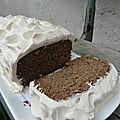 Cake à la farine de lentille verte et à la vanille, chantilly de crème de coco