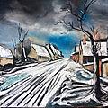 Village dans la neige