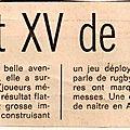 Tournée du XV de France en <b>Afrique</b> du <b>Sud</b> - juin 1975