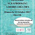 Dimanche 22 octobre - Braderie Scrapbooking et des <b>Loisirs</b> créatifs à Mouxy