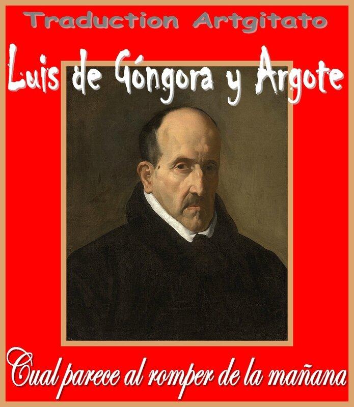 Cual parece al romper de la mañana Luis de Góngora y Argote Artgitato Soneto Sonnet