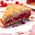 Gâteau-crumble aux framboises