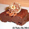 <b>Fondants</b> au chocolat & Ferreo rocher