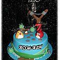 <b>Gâteau</b> d'anniversaire Angry Birds